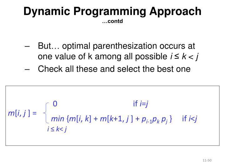 Dynamic Programming Approach