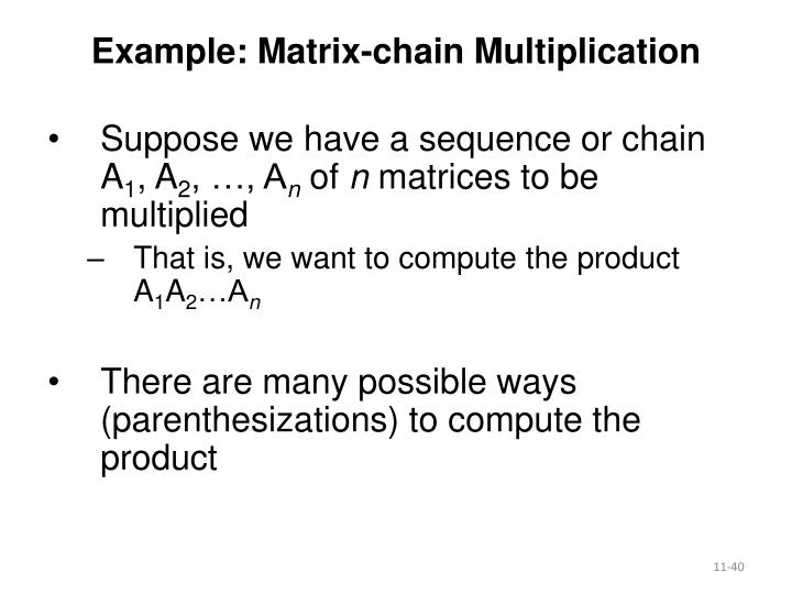 Example: Matrix