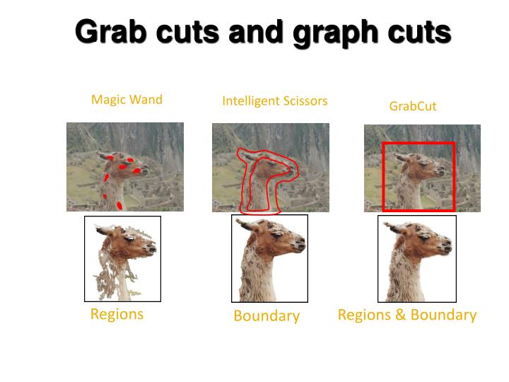 Grab cuts and graph cuts