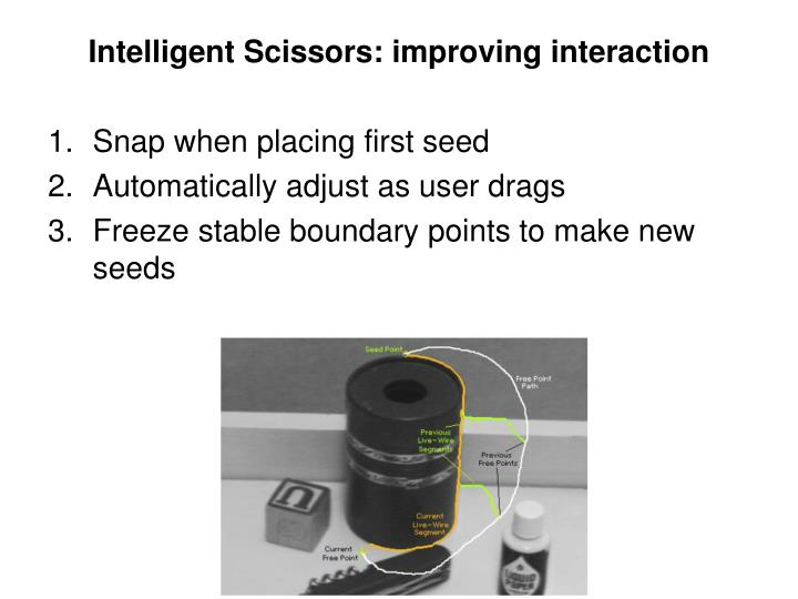 Intelligent Scissors: improving interaction