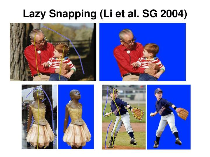 Lazy Snapping (Li et al. SG 2004)