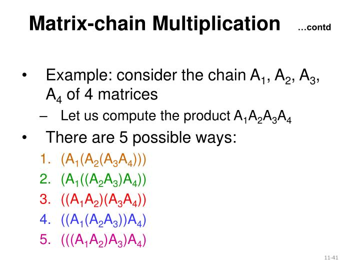 Matrix-chain Multiplication