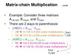matrix chain multiplication contd2