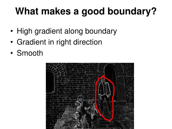 What makes a good boundary?