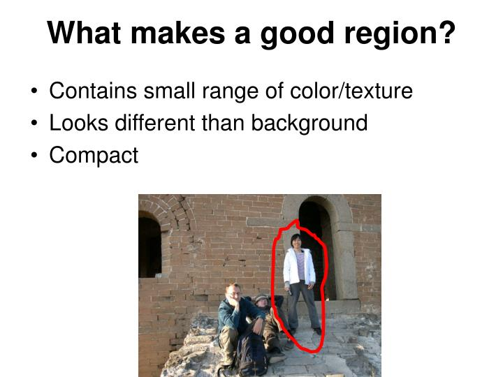 What makes a good region?