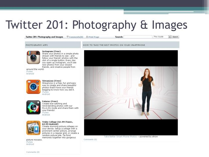 Twitter 201: Photography & Images