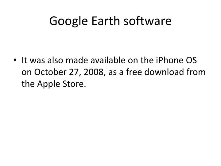 Google Earth software