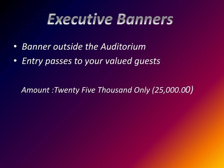 Executive Banners