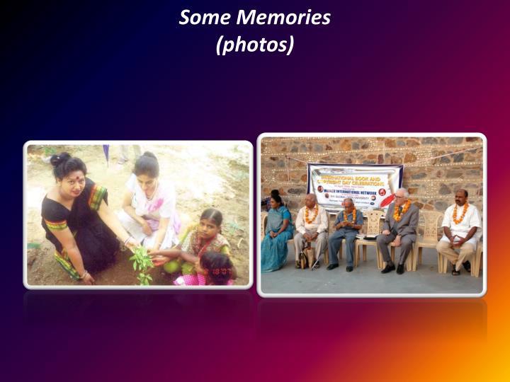Some Memories