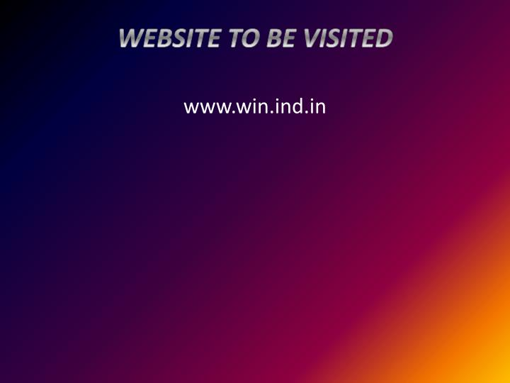 WEBSITE TO BE VISITED