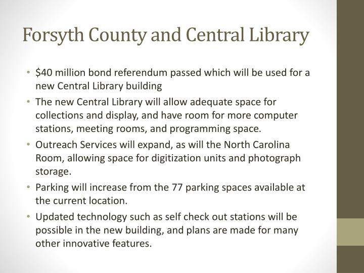 Forsyth County and Central Library