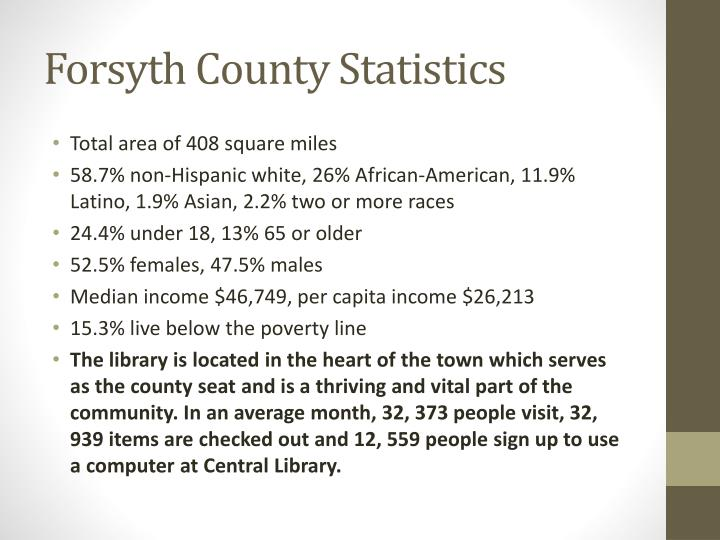 Forsyth County Statistics