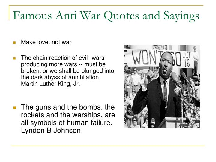 Famous Anti War Quotes and Sayings