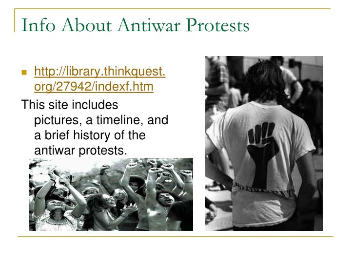 Info About Antiwar Protests