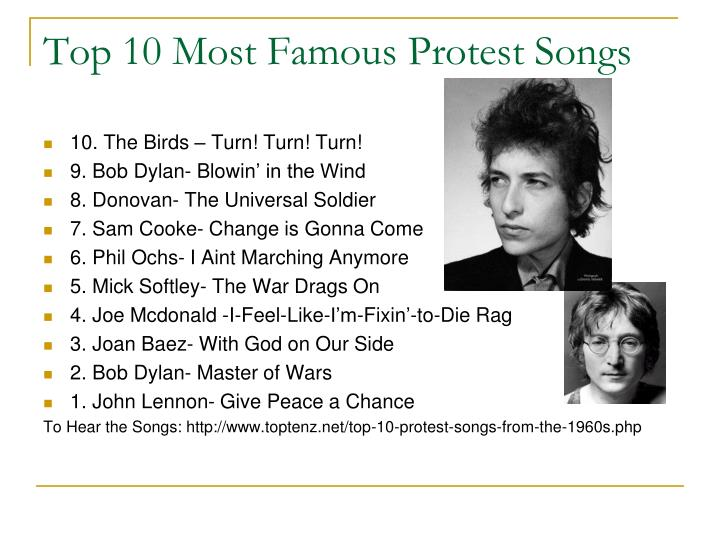 Top 10 Most Famous Protest Songs