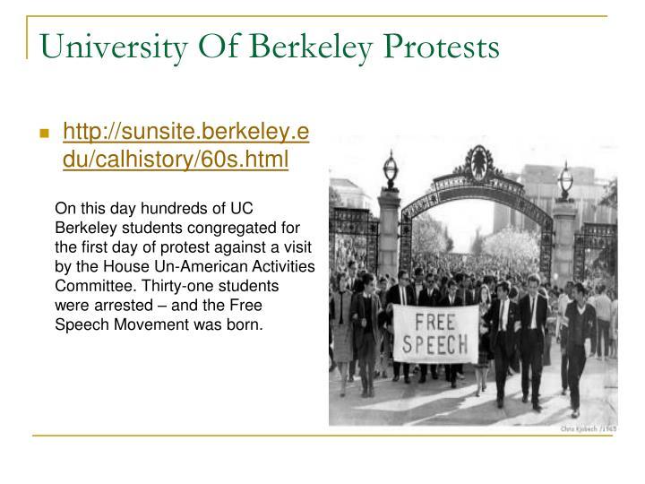 University Of Berkeley Protests