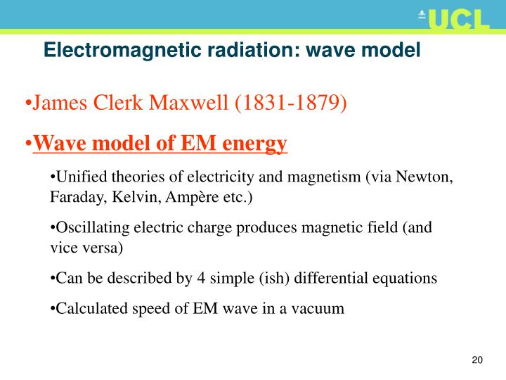 Electromagnetic radiation: wave model