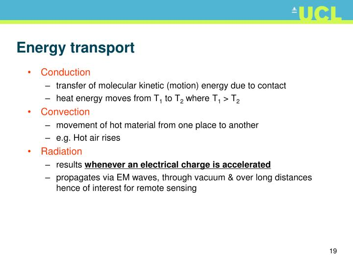 Energy transport