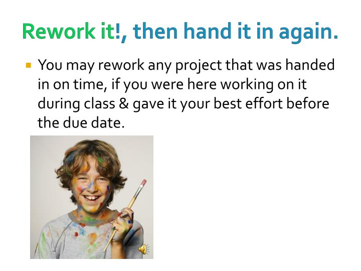 Rework it