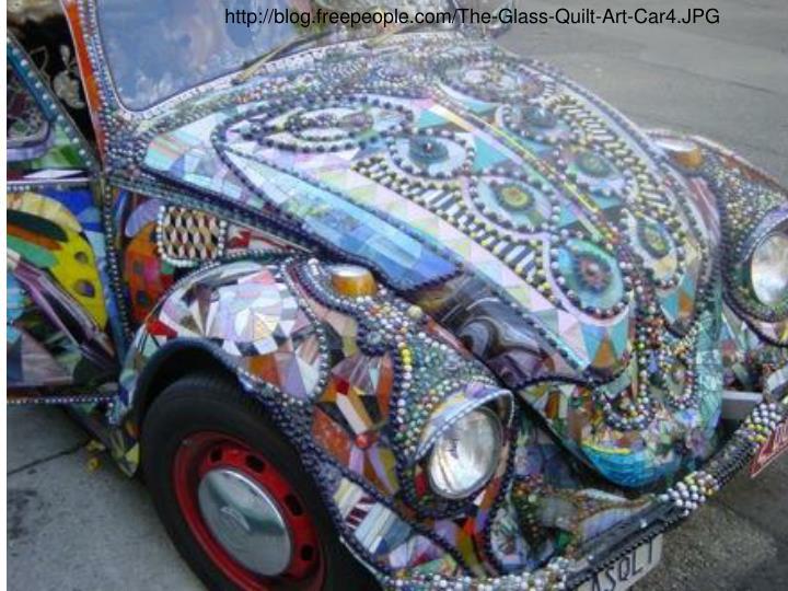 http://blog.freepeople.com/The-Glass-Quilt-Art-Car4.JPG
