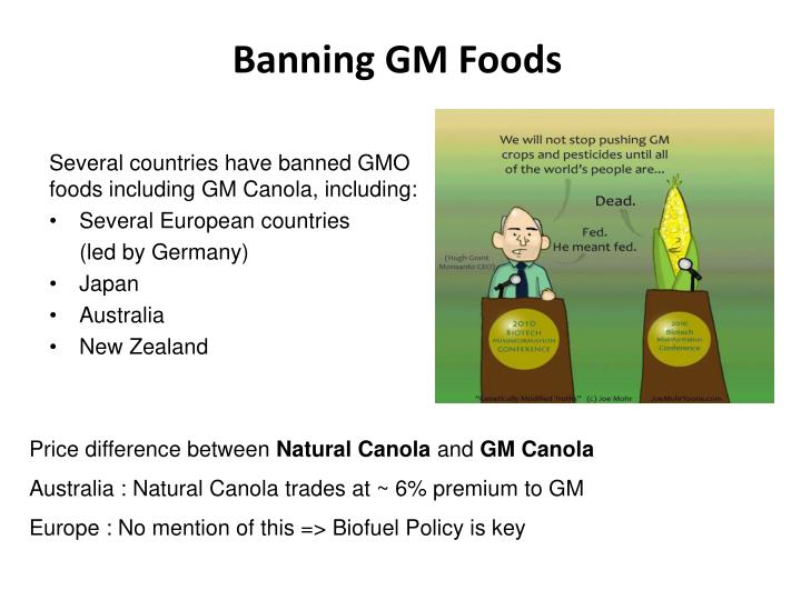 Banning GM Foods