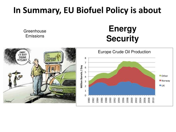 In Summary, EU Biofuel Policy is about