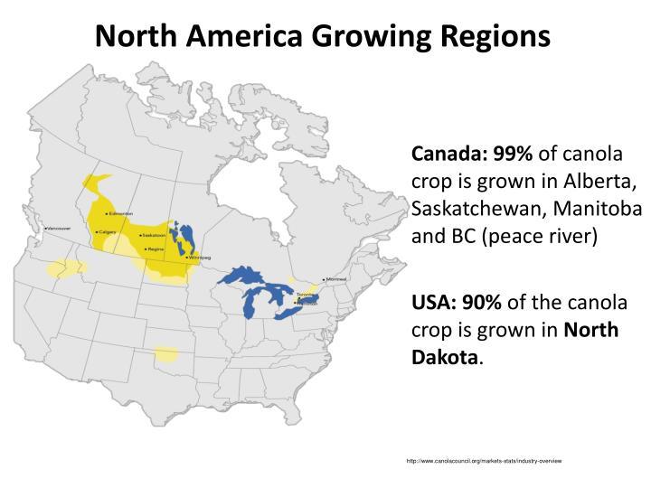 North America Growing Regions