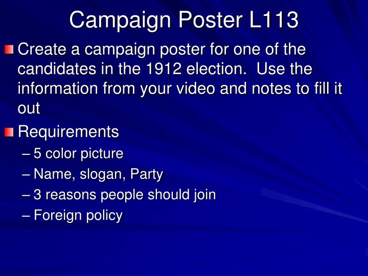 Campaign Poster L113