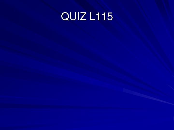 QUIZ L115