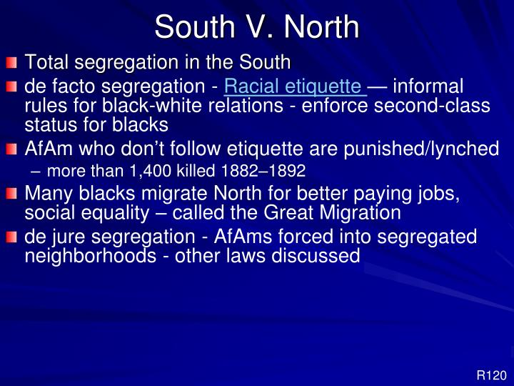 South V. North