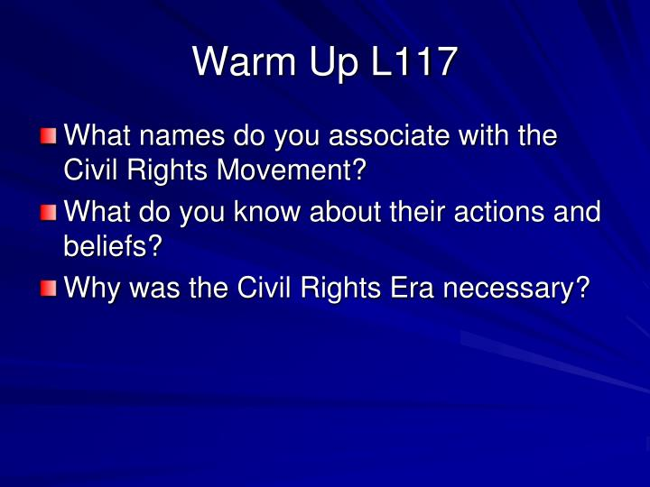 Warm Up L117