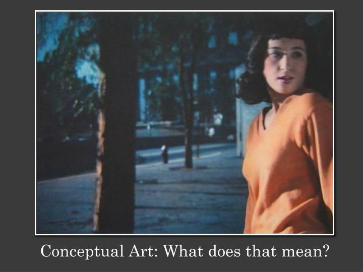Conceptual Art: What does that mean?
