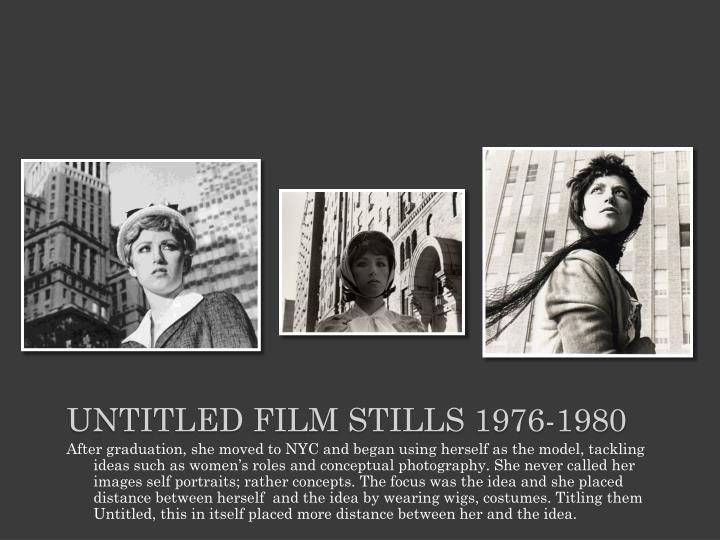 Untitled film stills 1976-1980
