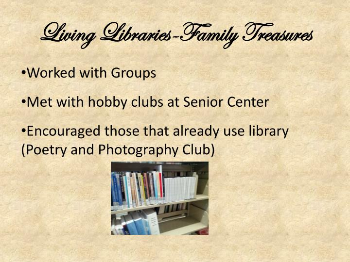 Living Libraries-Family Treasures