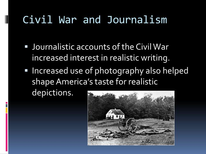 Civil war and journalism