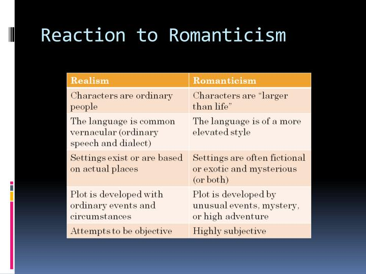 Reaction to Romanticism