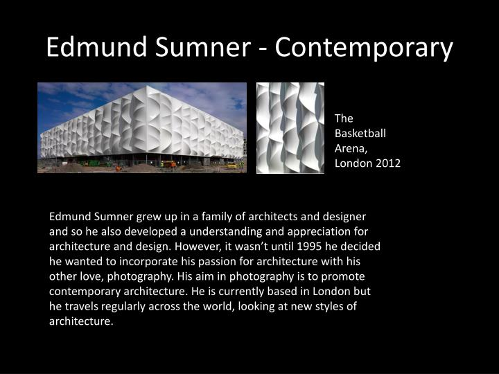 Edmund Sumner - Contemporary