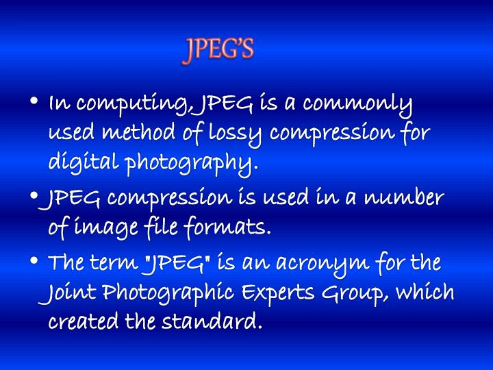 JPEG'S