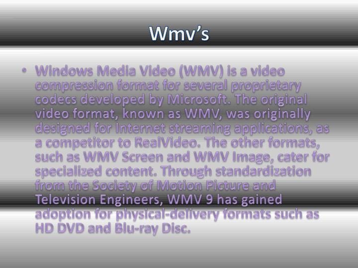 Wmv's