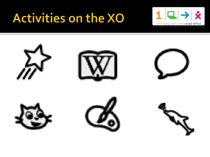 Activities on the XO
