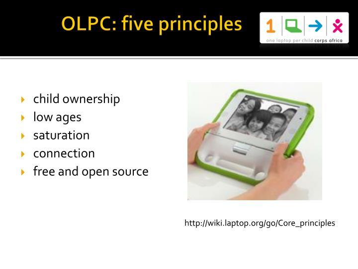 OLPC: five principles