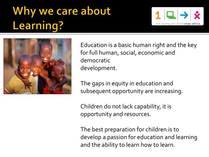 Why we care about Learning?