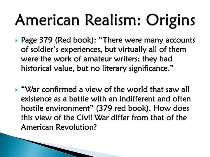 American Realism: Origins