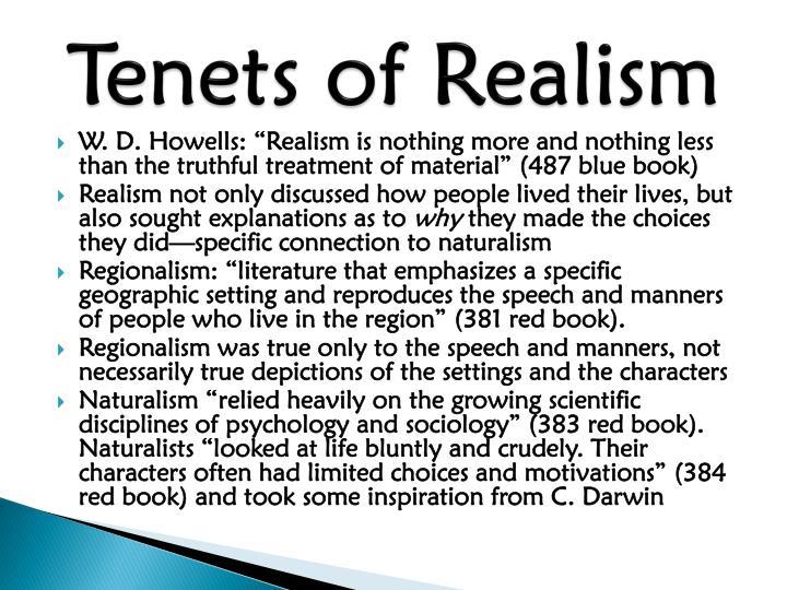 Tenets of Realism