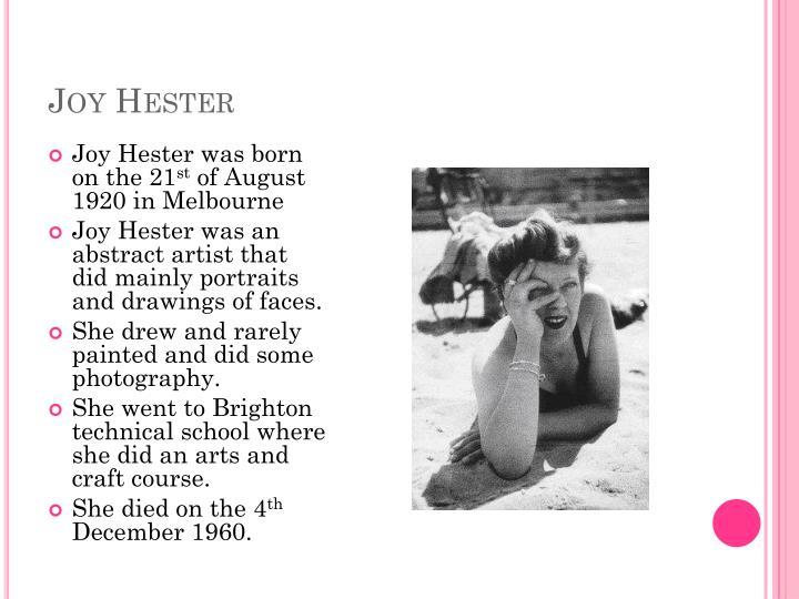 Joy Hester
