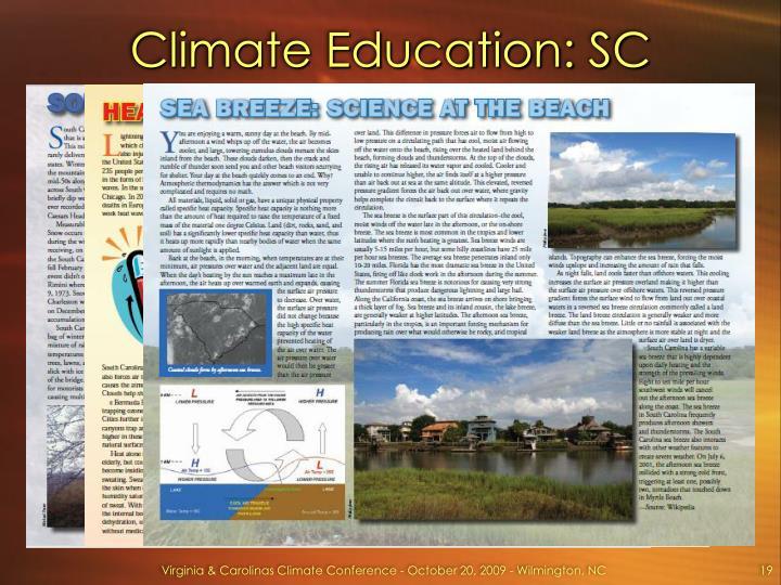 Climate Education: SC