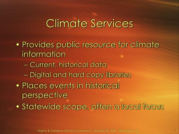 Climate Services