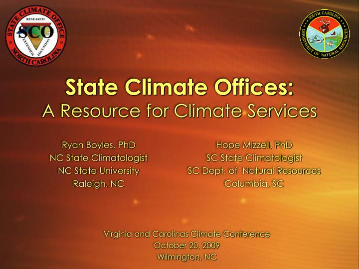 State climate offices a resource for climate services