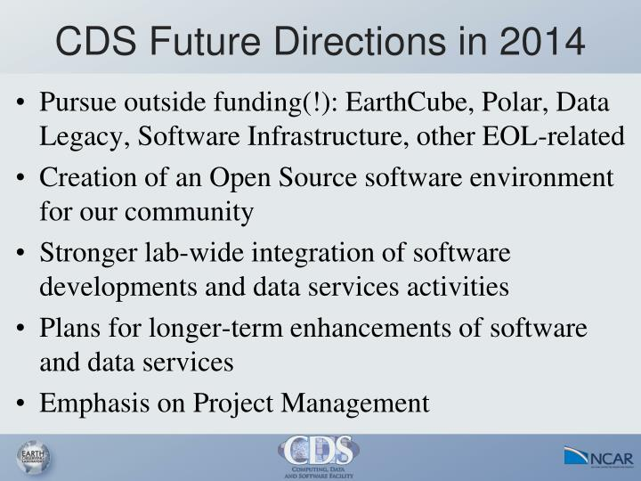 CDS Future Directions in 2014