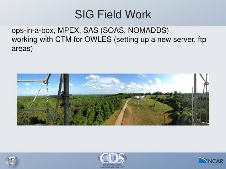 SIG Field Work